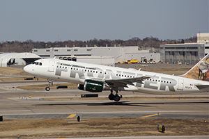 Frontier Airlines Plane Departing