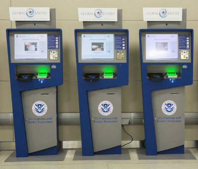 Global Entry Enrollment photo of three pumps