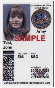 federal government ID example