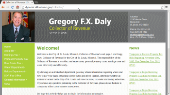 Collector of Revenue website