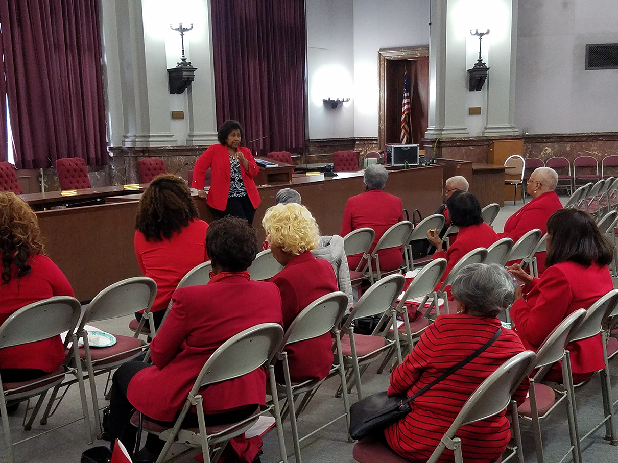 Delta Sigma Theta Alumnae Association recognition at City Hall, May 2018