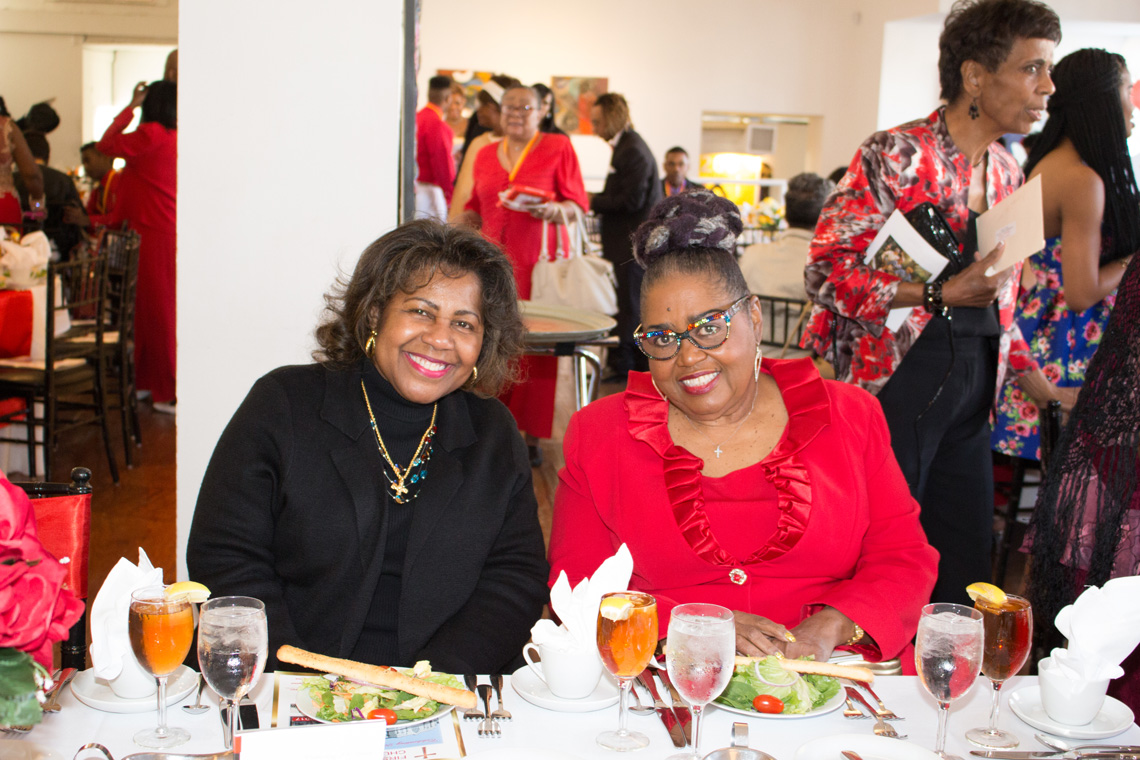 Comptroller Darlene Green and Evangelist Mary Tillman (95.5 The Lou) at the 200th anniversary celebration for First Baptist Church, City of St. Louis.