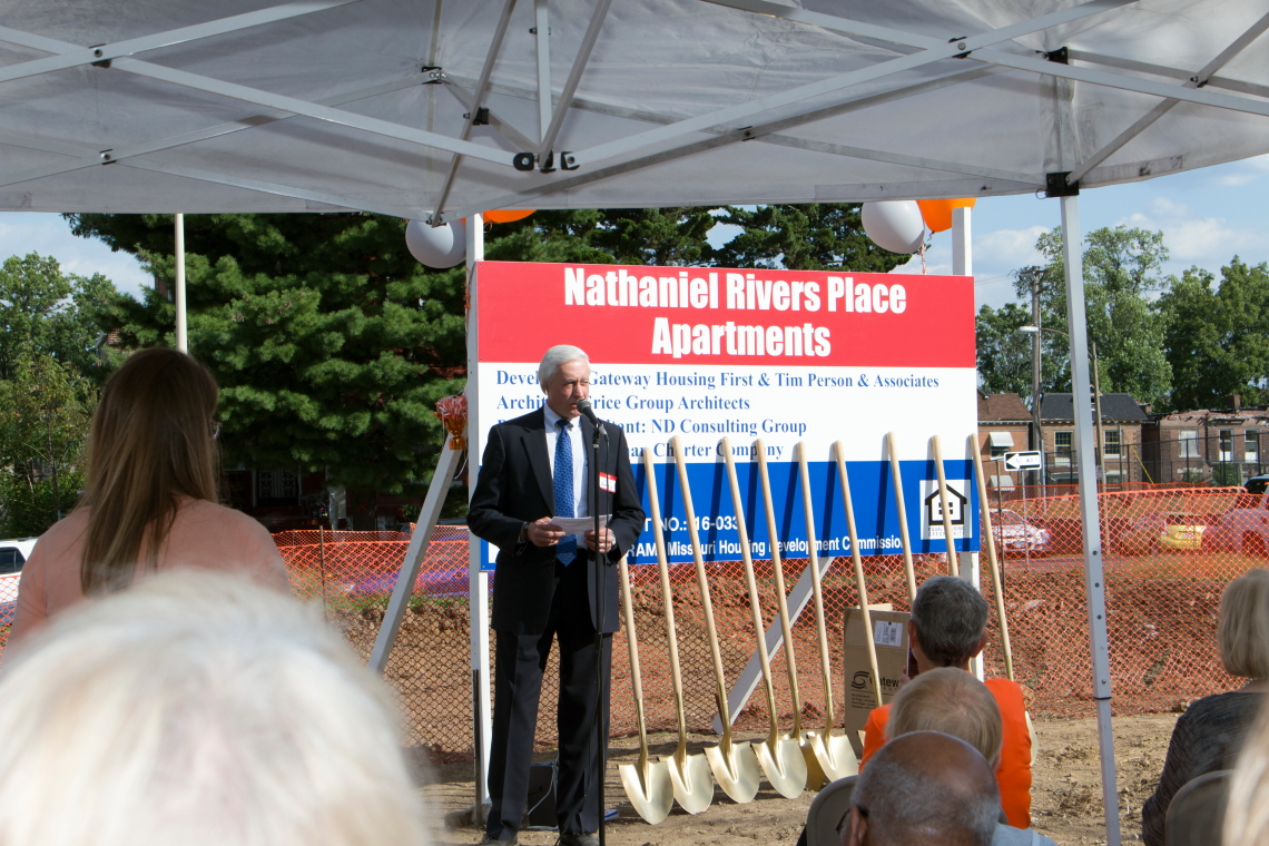 Photo from the Nathaniel Rivers Place Apartments groundbreaking ceremony on September 7, 2017.