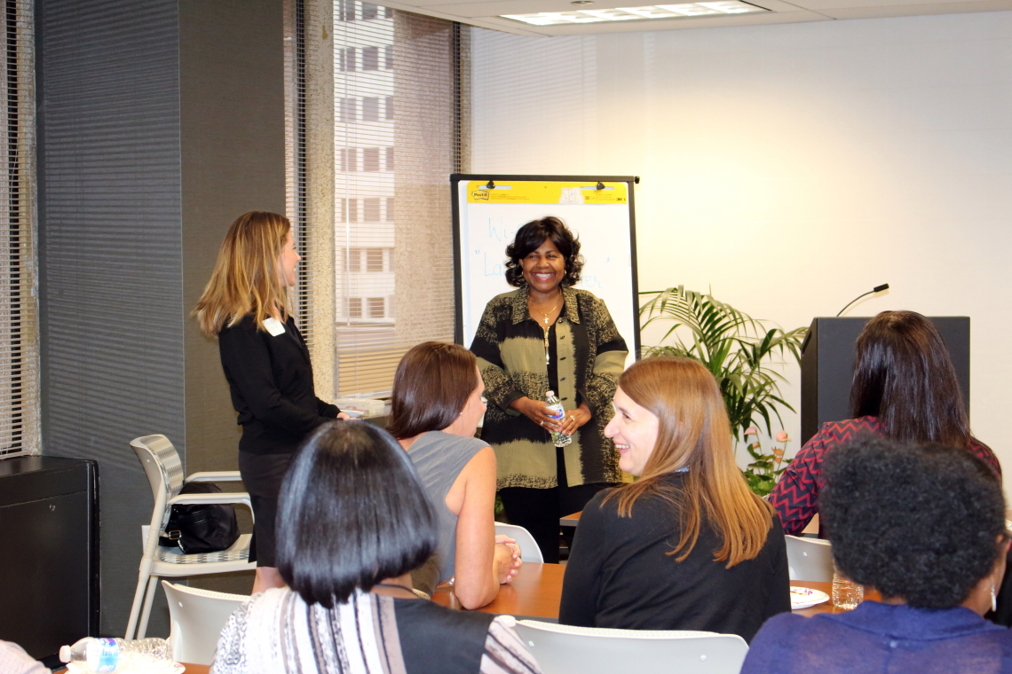 Photo from Comptroller Darlene Green's talk with the CBRE Women's Network on September 27, 2017