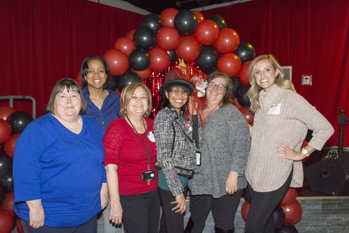 Photo from the holiday party for Office of Comptroller Darlene Green's staff
