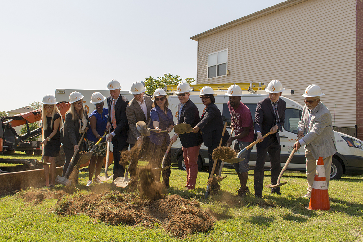 Photo from the July 11, 2018 Habitat for Humanity groundbreaking at La Saison.
