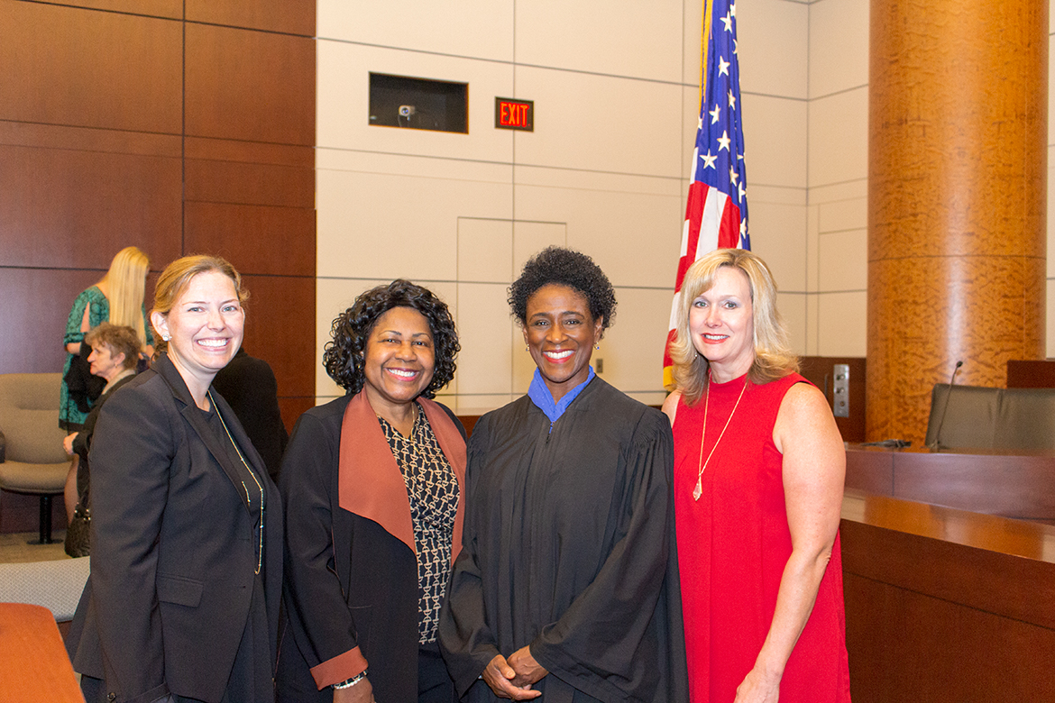City of St. Louis Comptroller Darlene Green speaking at the October 19, 2018 naturalization ceremony at the Thomas Eagleton U.S. Courthouse, U.S. District Court Judge Nannette Baker presiding.