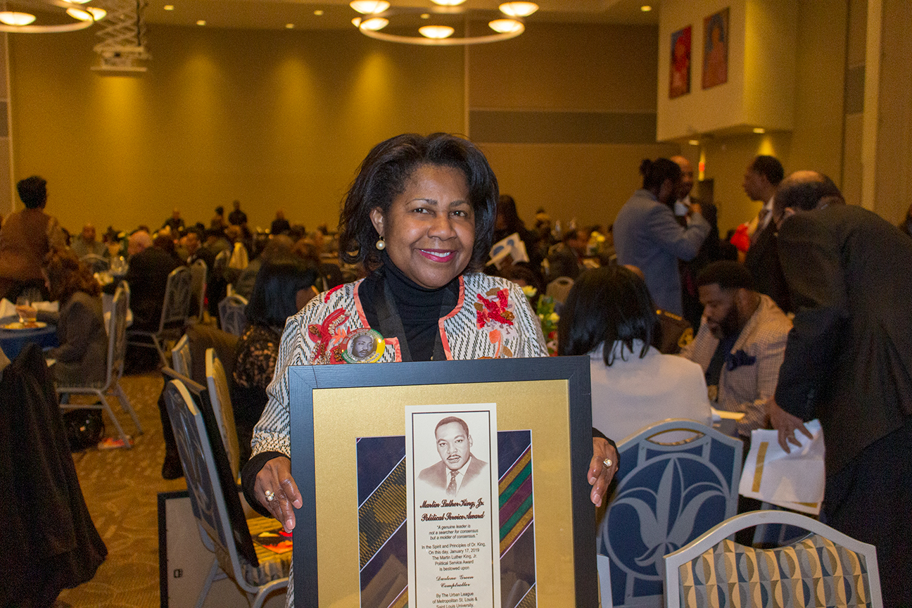 Photo from the January 17, 2019 Martin Luther King, Jr. memorial tribute held by Saint Louis University and the Urban League of Metropolitan St. Louis.