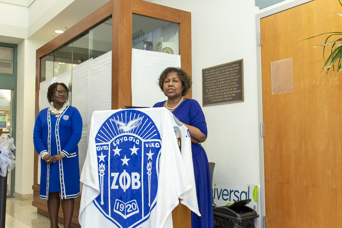Photo from the December 7, 2019 opening of the Zeta Phi Beta gallery at Harris-Stowe State University.