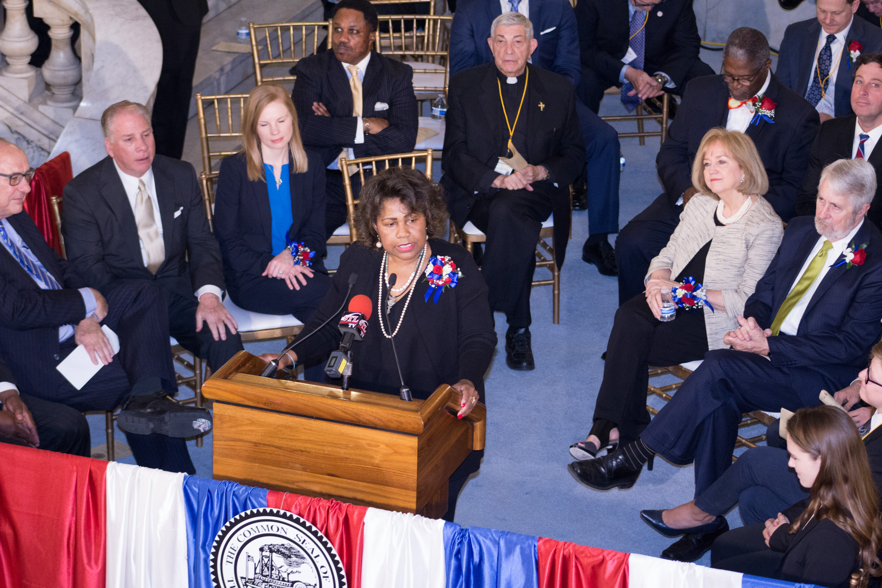 Comptroller Darlene Green speaking at 2017 Inauguration