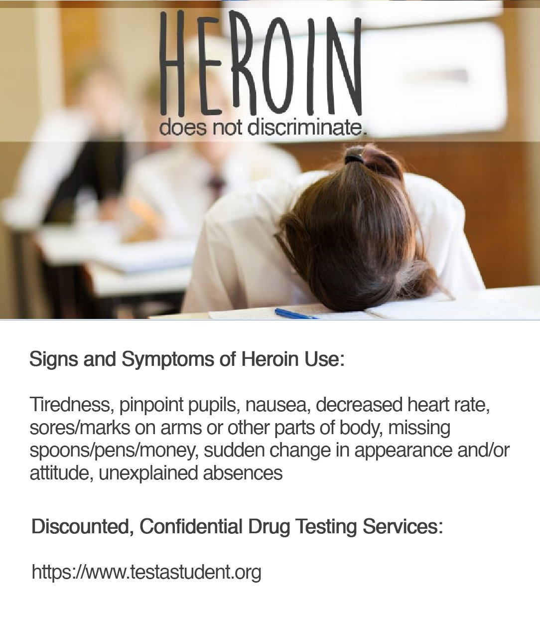 Heroin Signs and Symptoms Resource Information