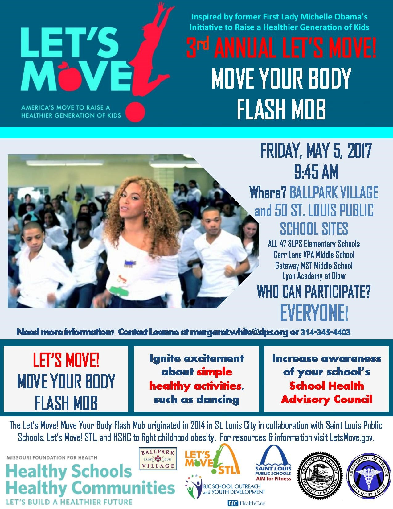 2017 Lets Move Flash Mob Flier