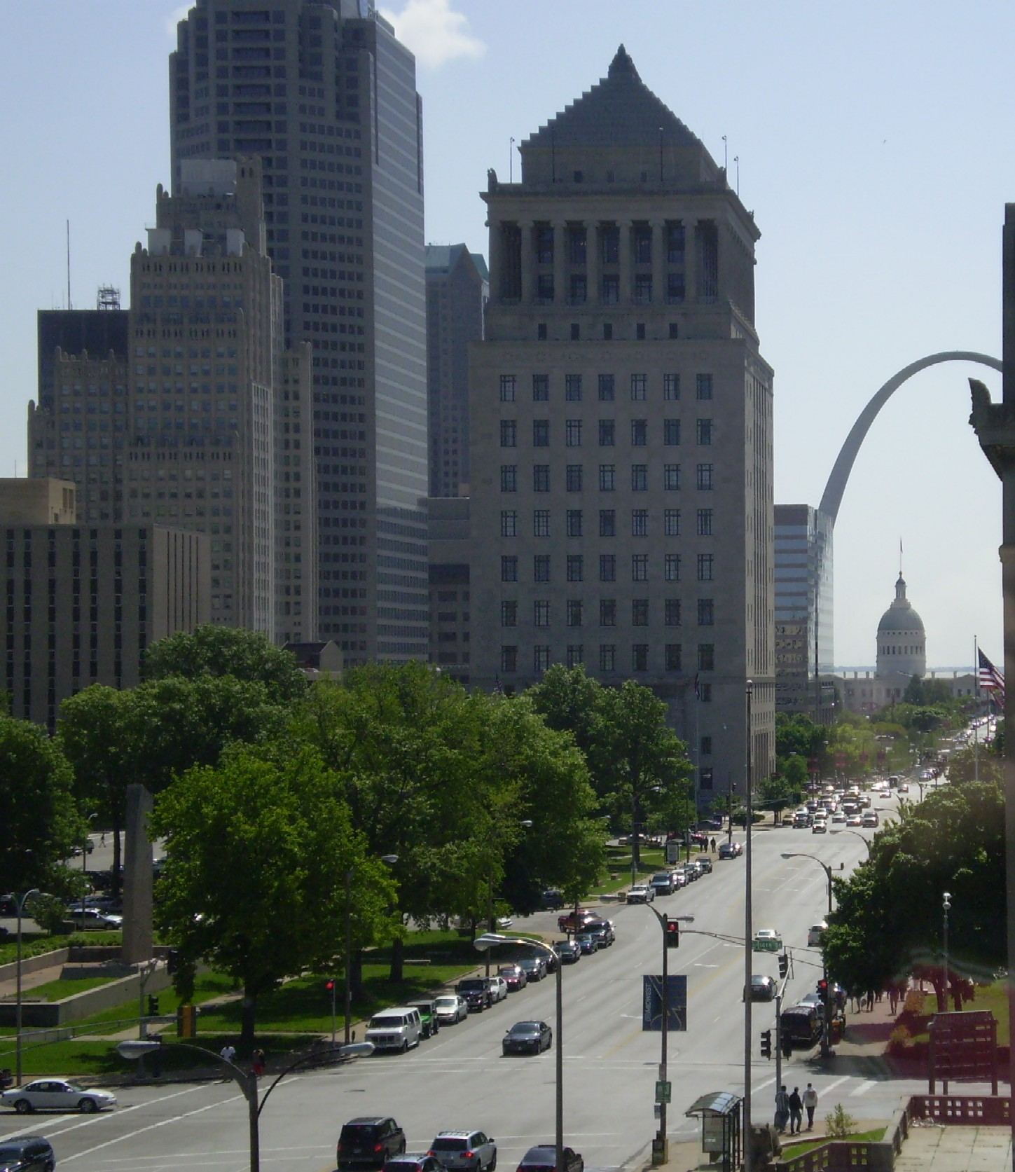 View down Market toward Arch