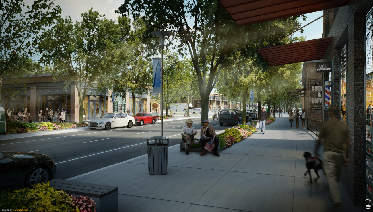 23rd and Cass Streetscape Rendering