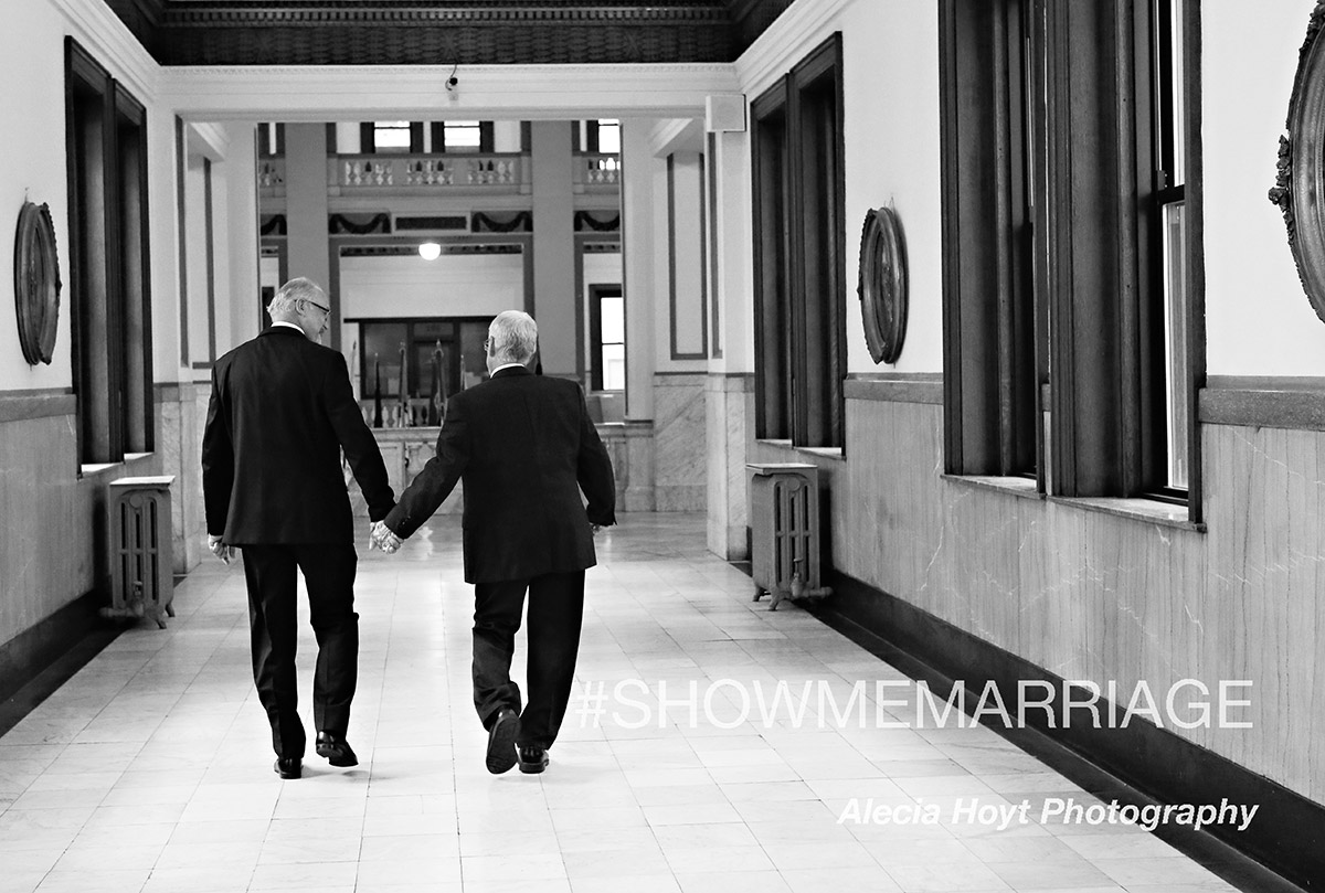 John Durnell & Richard Eaton walking hand in hand