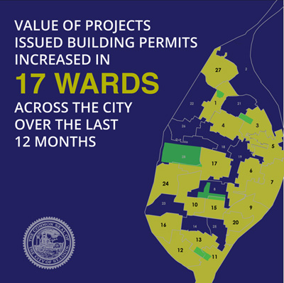 17 wards building permits increase