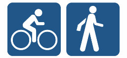 Bicyclist and Pedestrian Icons