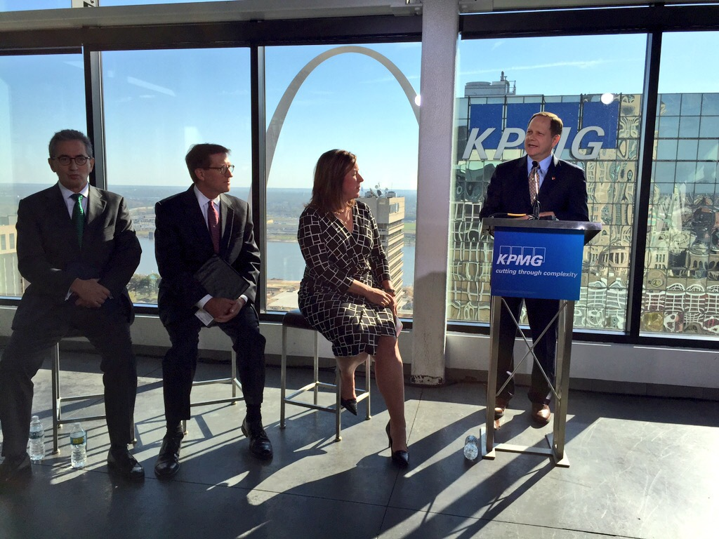 Mayor Slay With KPMG Officials Announcing 175 IT Jobs Downtown St. Louis