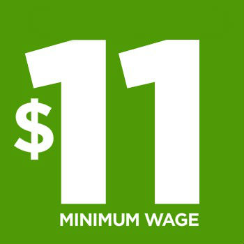 $11 minimum wage support icon