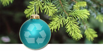 Christmas Tree Recycle image of tree with recycle ornament
