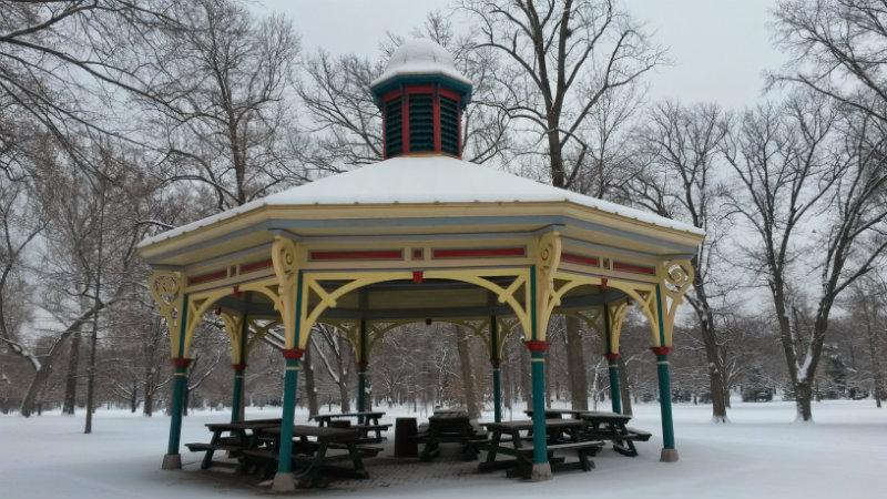 Pavilion in Winter