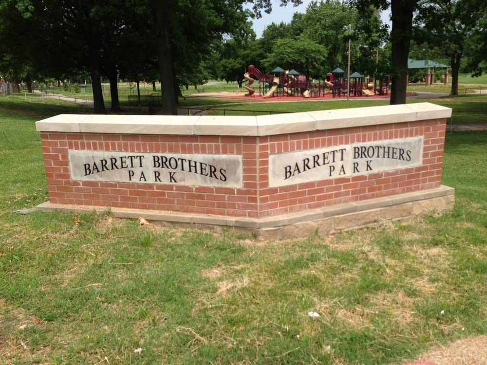 Barrett Park brick entrance sign