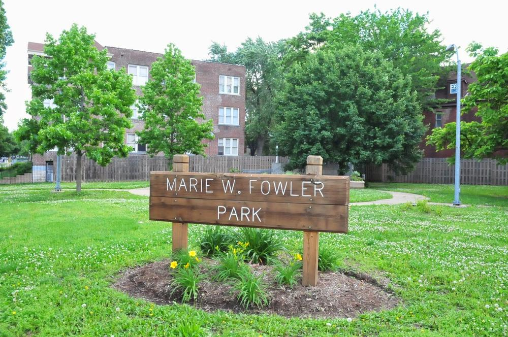 Marie Fowler Park sign