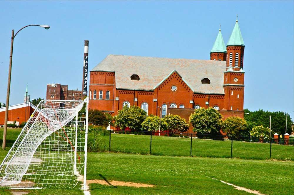 St. Stanislaus Kostka church and soccer field