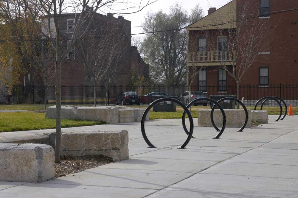 Bike racks in Fourteenth Street Mall