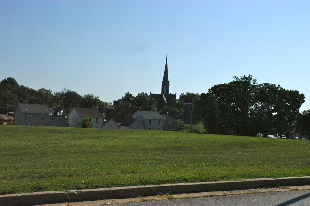Steeple seen from Dickman Park