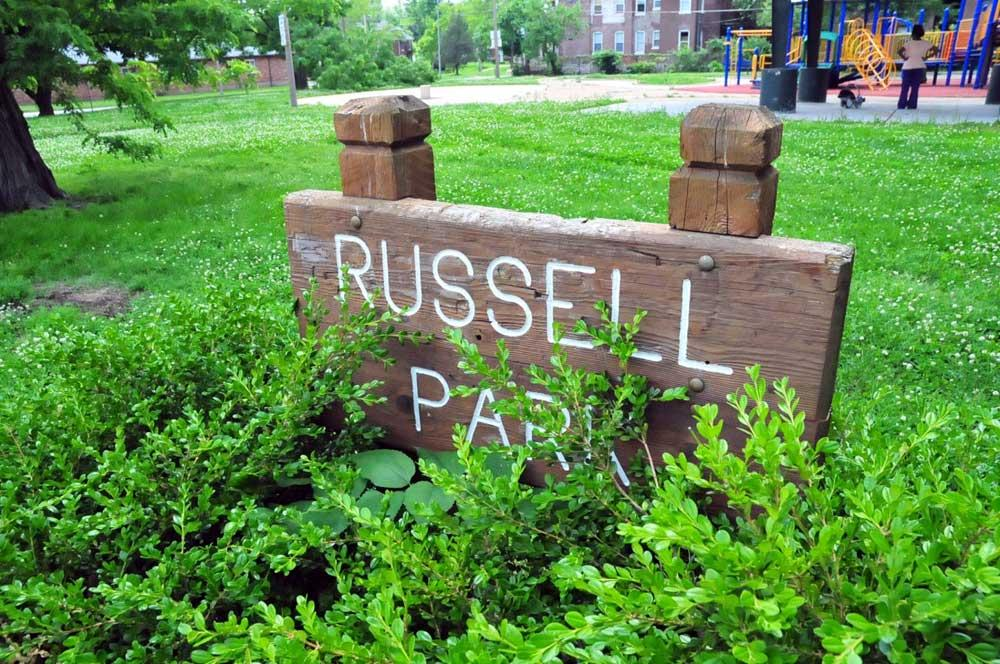 Russell Park sign