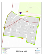 Hi-Pointe Neighborhood Map