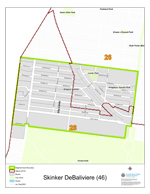 Skinker-DeBaliviere Neighborhood Map