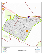 Penrose Neighborhood Map