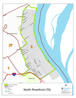 North Riverfront Neighborhood Map