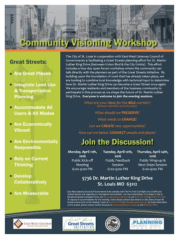 Dr. Martin Luther King Dr. Community Visioning Flyer