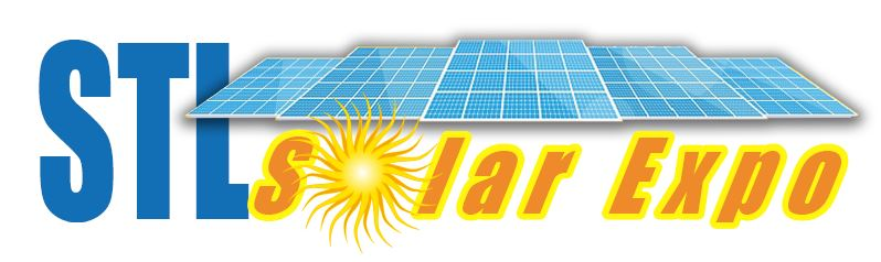 Solar Expo logo with solar panels and the sun