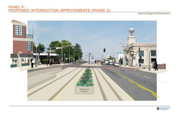 Proposed Intersection Improvements:  Newstead Avenue Phase 2
