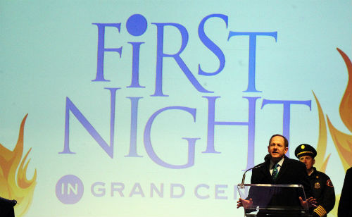 Mayor Slay at First Night - Extreme '14