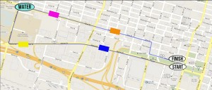 2012 Color Run Route Map