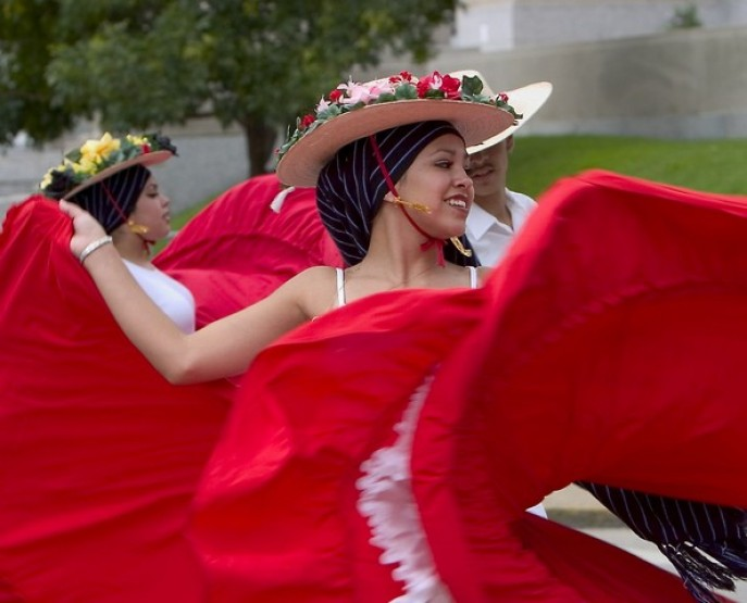 Dancers at the 2014 Hispanic Festival
