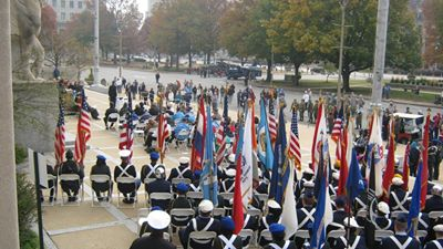 Scene from 2013 Veteran's Day Observance in St. Louis