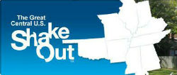 Great Central U.S. ShakeOut logo