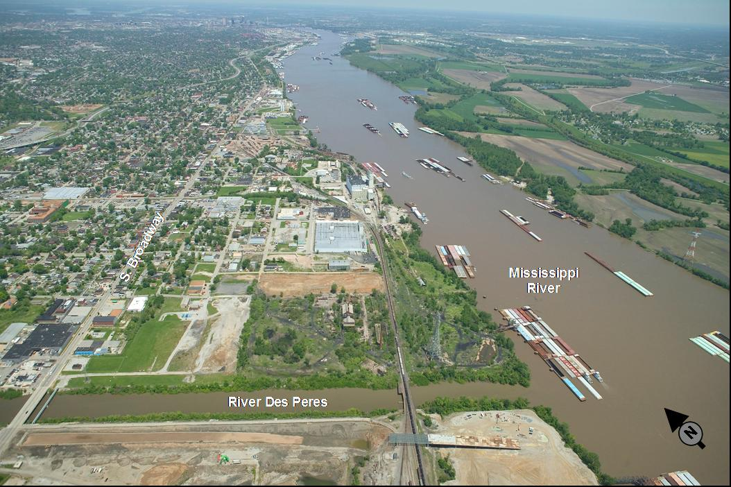 Confluence of the Rivers Des Peres and Mississippi.