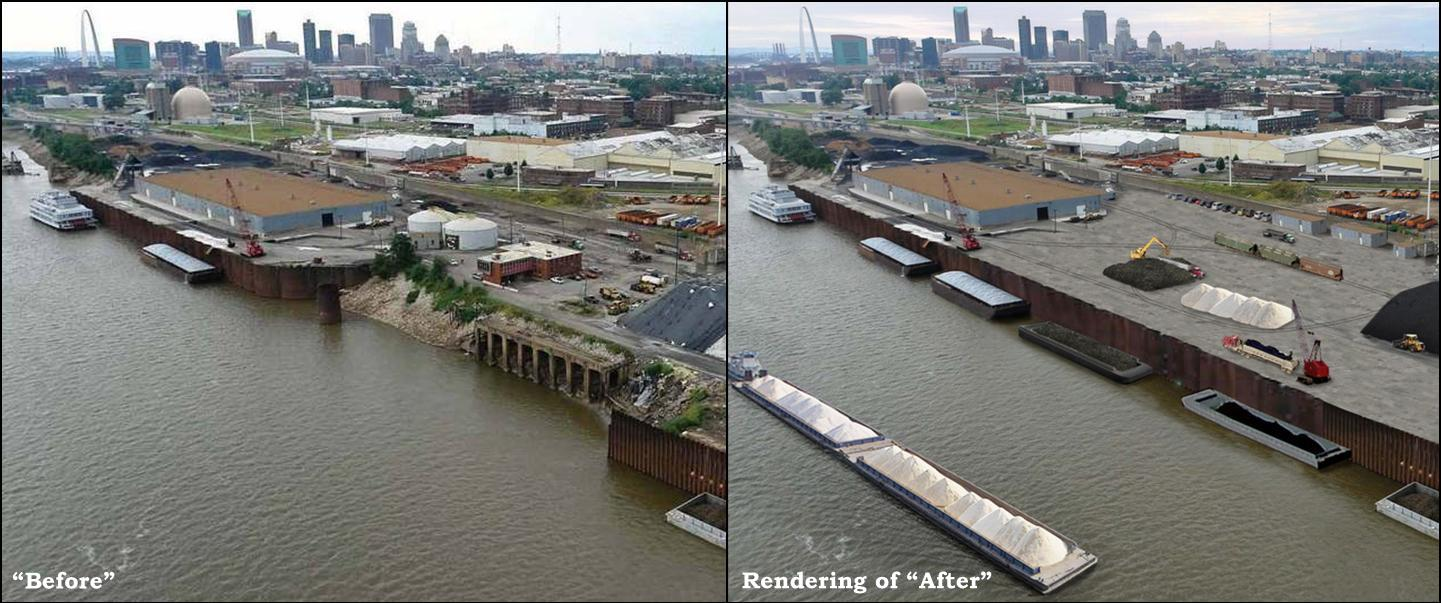 Municipal River Terminal, Before & After