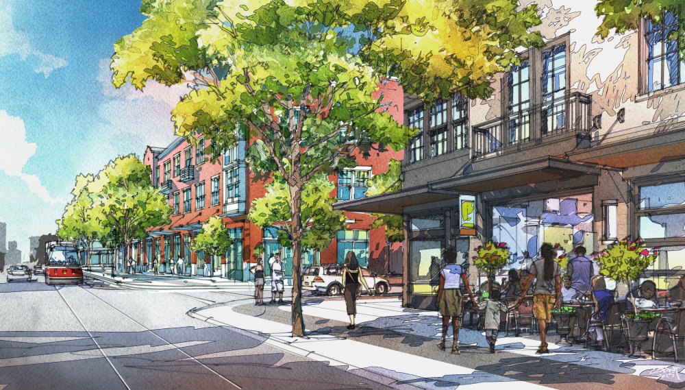 Rendering of the proposed changes to 14th Street at Preservation Square.