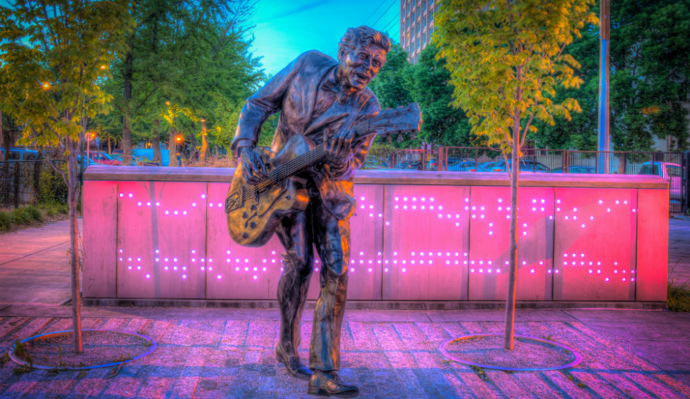 Chuck Berry Statue in University City