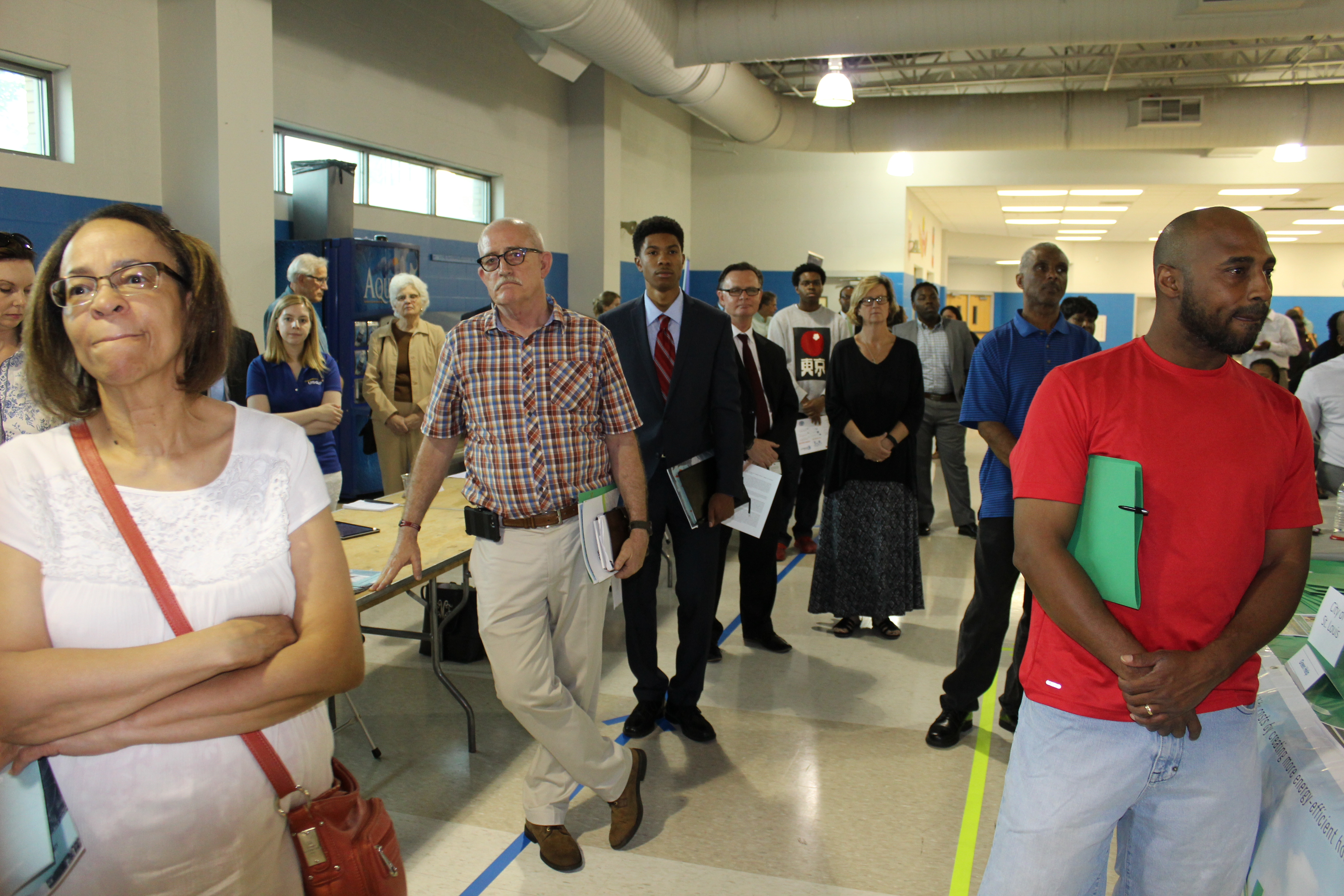 North St. Louis residents watch opening remarks of Project Connect Open House