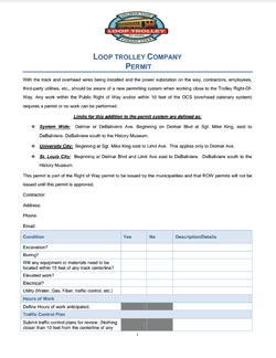 Loop Trolley Permit