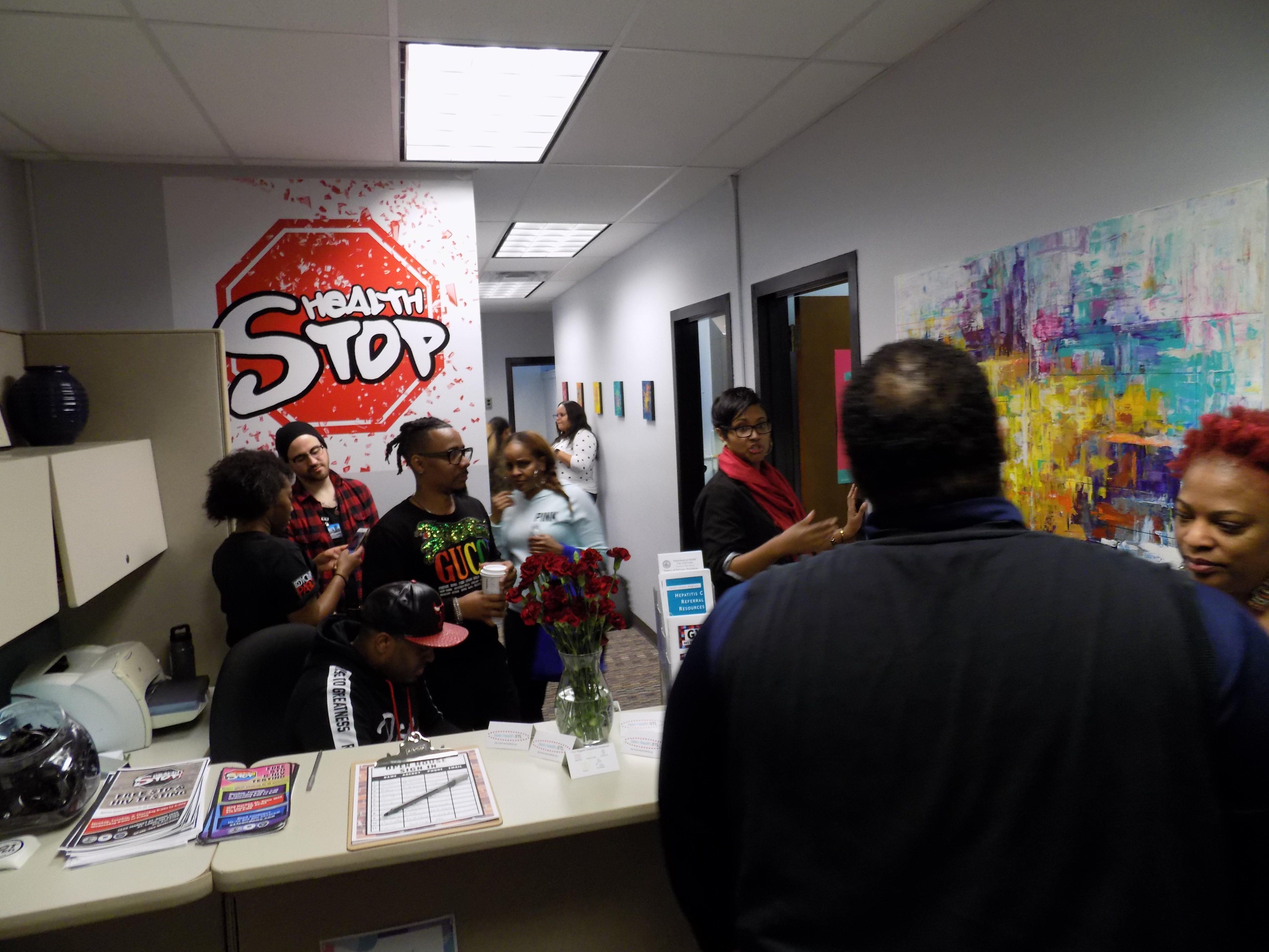 Grand opening of sexual health testing center